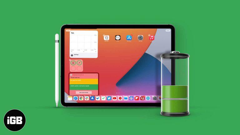 Как проверить уровень заряда батареи Apple Pencil