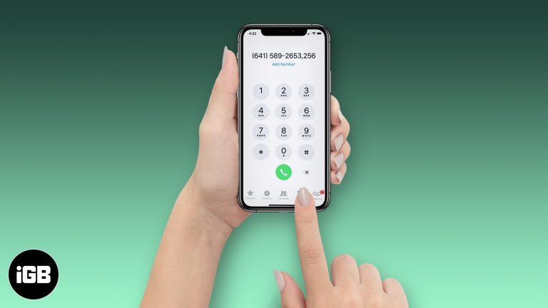 Как набрать добавочный номер на iPhone