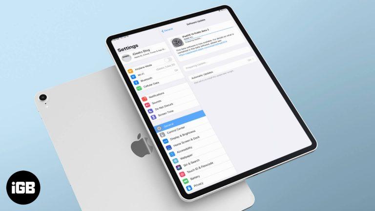 Как загрузить публичную бета-версию iPadOS 14.2 3 на свой iPad