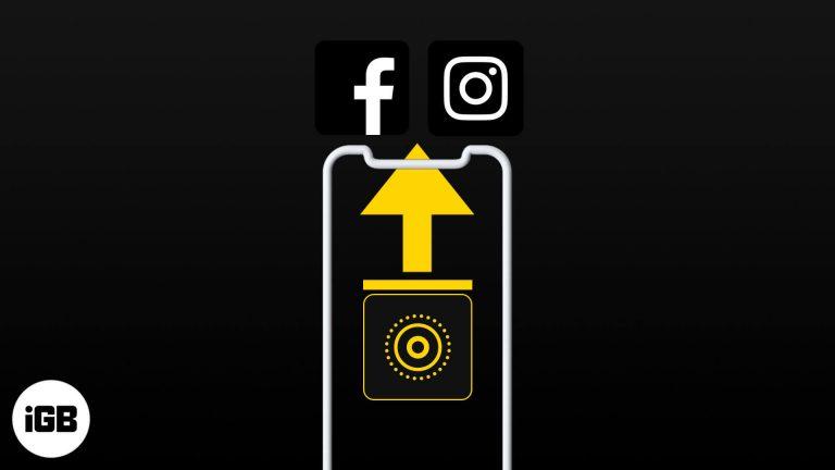 Как публиковать живые фотографии в Instagram и Facebook с iPhone