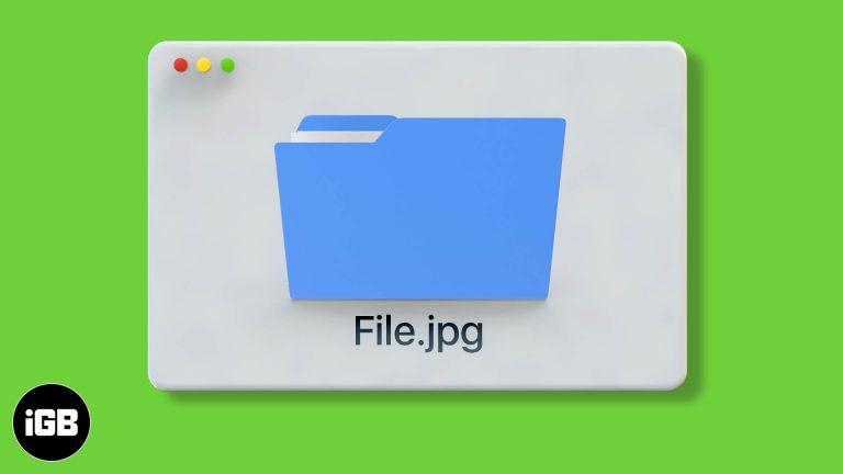 Как показать расширения имени файла на Mac