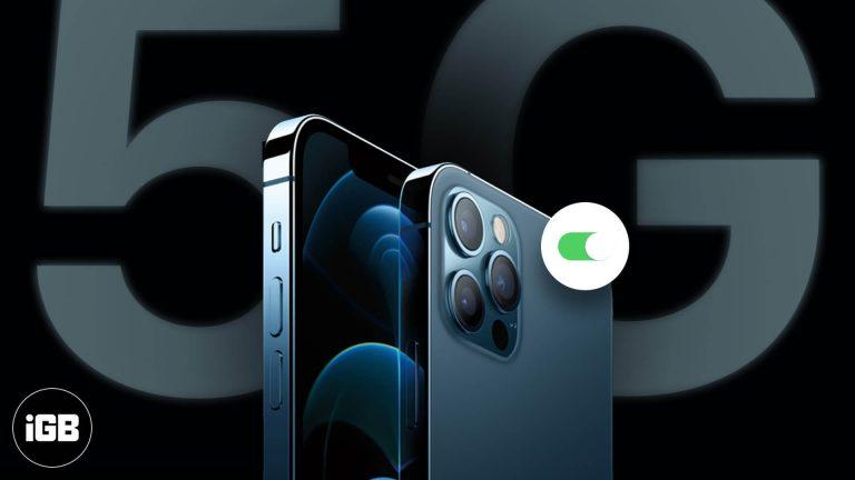 Как включить или выключить 5G на iPhone 12 серии