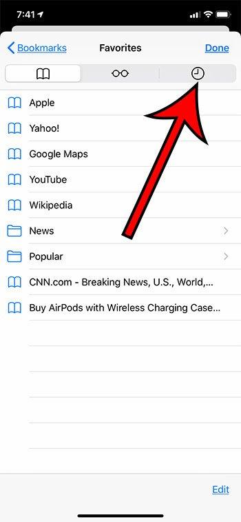 Как просмотреть историю в Safari на iPhone 11