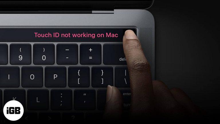 MacBook Pro Touch ID не работает?  Как это исправить!