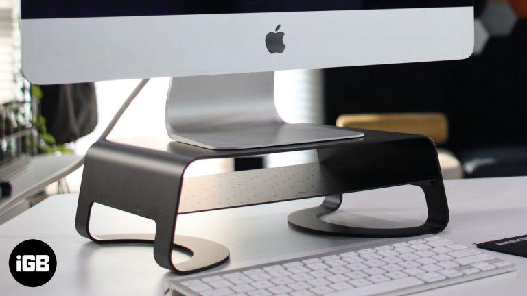 Настольная подставка Twelve South Curve Riser для iMac