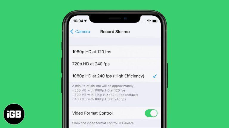 Как изменить скорость записи замедленного видео на iPhone