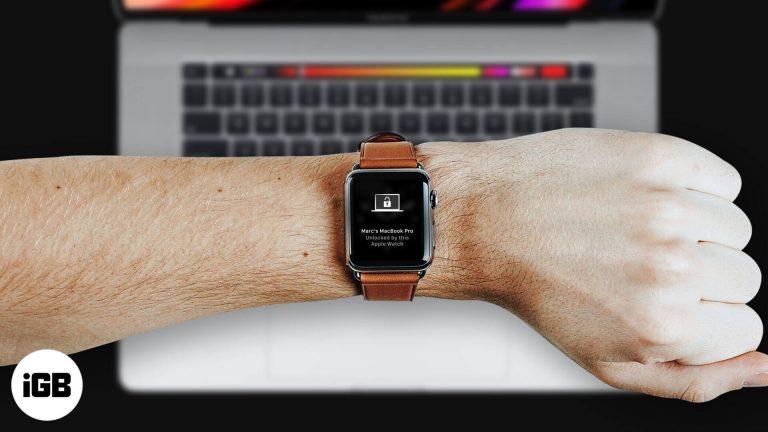Как разблокировать Mac с помощью Apple Watch (пошаговое руководство)