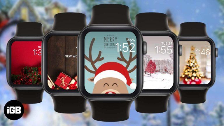 Лучшие рождественские циферблаты Apple Watch в 2020 году