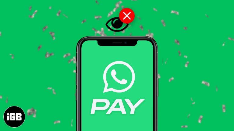 Вариант оплаты WhatsApp не отображается?  Как его получить