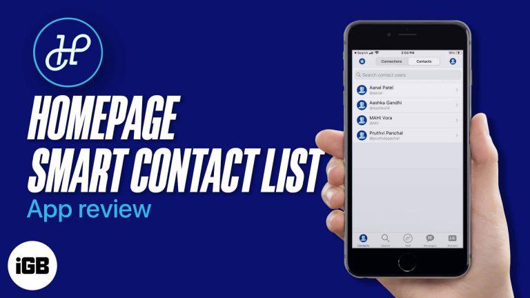 Приложение HomePage Smart Contact List для iOS: оставайтесь на связи, куда бы вы ни пошли