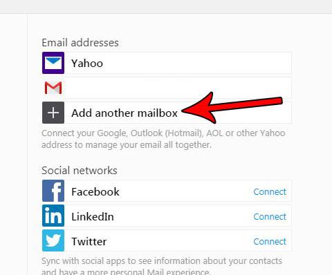 Как добавить другую учетную запись в Yahoo Mail