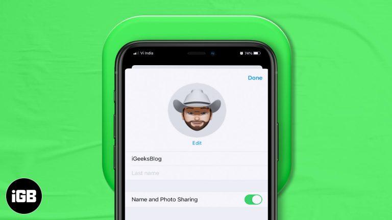 Как настроить свой профиль iMessage в iOS 14/13