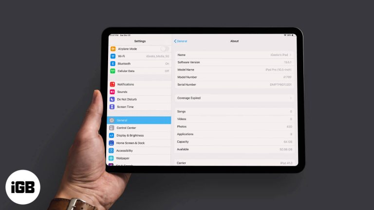 Какой у меня iPad?  Найдите модель и поколение iPad