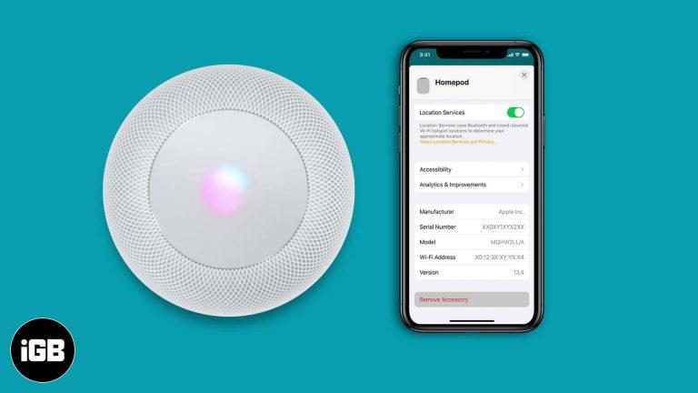 3 способа сбросить настройки HomePod или HomePod Mini