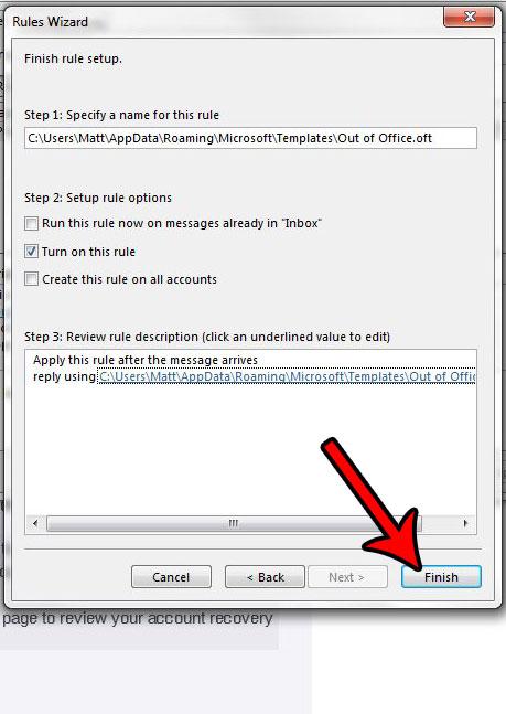Как выйти из офиса в Outlook 2013