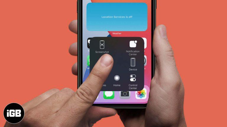 Как сделать снимок экрана на iPhone без кнопки [3 Easy Hacks]