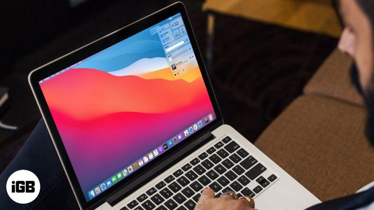 Как использовать Центр управления в macOS Big Sur