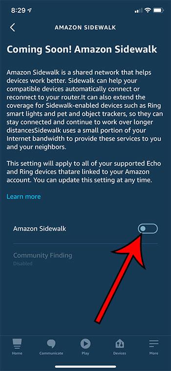 Как отключить Amazon Sidewalk в приложении Alexa для iPhone