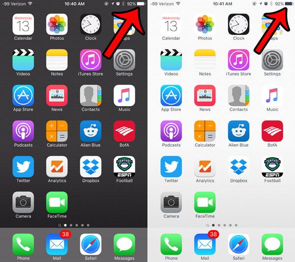 Почему значок батареи моего iPhone меняется с черного на белый?