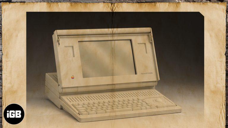 Первый ноутбук Apple: история происхождения