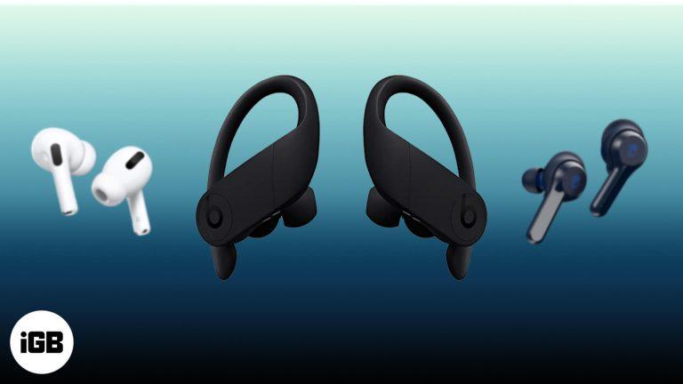 Лучшие Bluetooth-наушники для Apple Watch в 2020 году