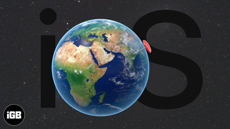 Как изменить местоположение вашего iPhone GPS?