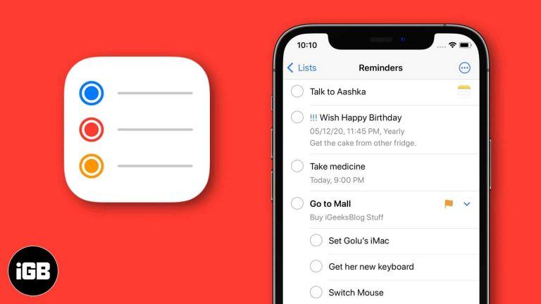 iOS 14: как использовать приложение для напоминаний на iPhone и iPad