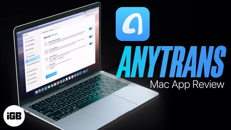 Приложение AnyTrans: полное резервное копирование и правильное управление вашим iPhone