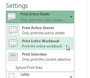 Как распечатать каждый лист книги Excel 2013 на одной странице