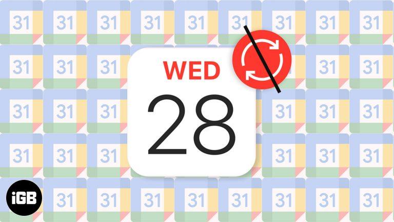 Календарь Google не синхронизируется с iPhone?  Как это исправить