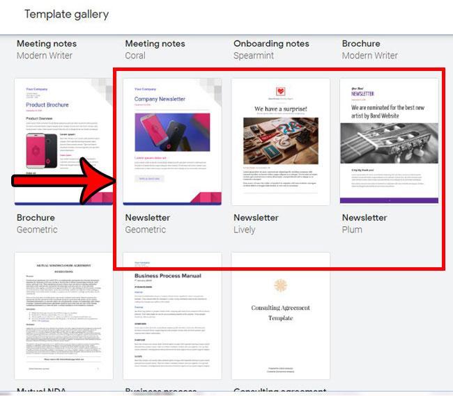 Как создать информационный бюллетень, используя шаблон информационного бюллетеня Google Документов