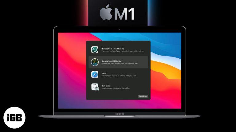 Как загрузить M1 Mac в MacOS Recovery