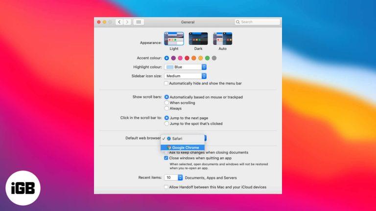 Как изменить веб-браузер по умолчанию на Mac