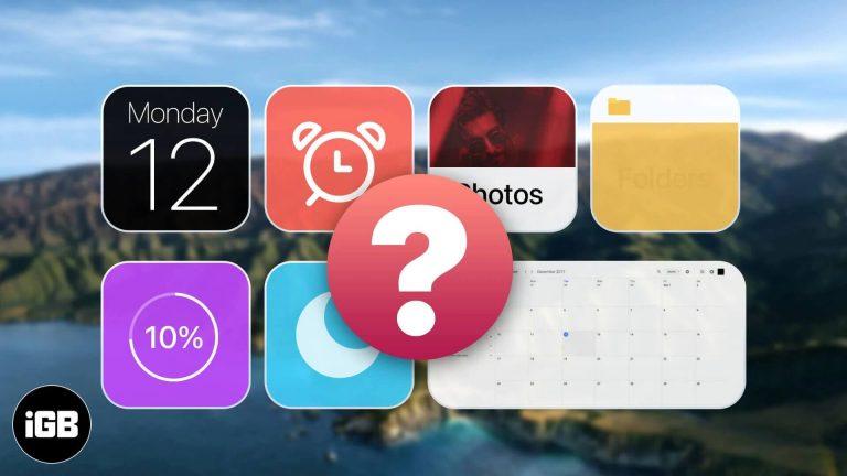 Лучшие виджеты для macOS Big Sur, которые вы должны использовать (2021 г.)