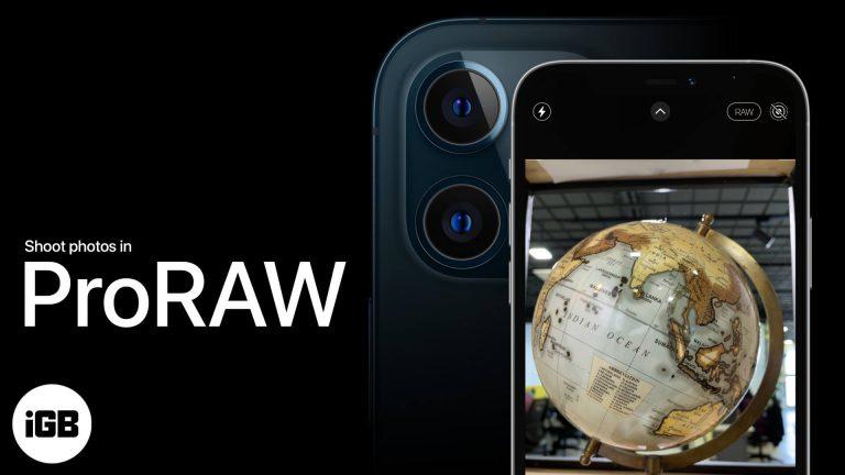 Как использовать ProRAW на iPhone 12 Pro и 12 Pro Max (2021 г.)