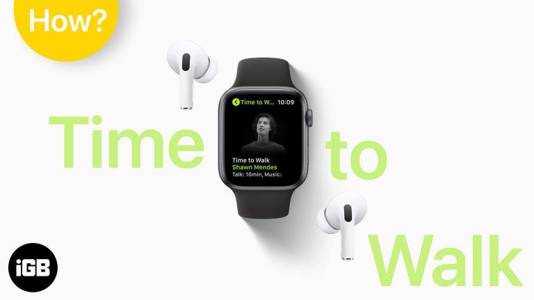Как использовать Apple Watch Time to Walk на Apple Fitness +
