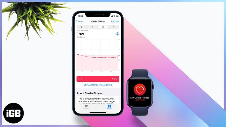 Как использовать Cardio Fitness на iPhone и Apple Watch (руководство по фитнесу)