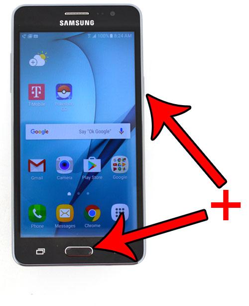 Как сделать снимок экрана с помощью Samsung Galaxy On5