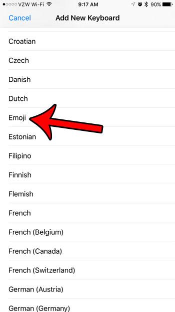Как добавить клавиатуру Emoji в iPhone 5