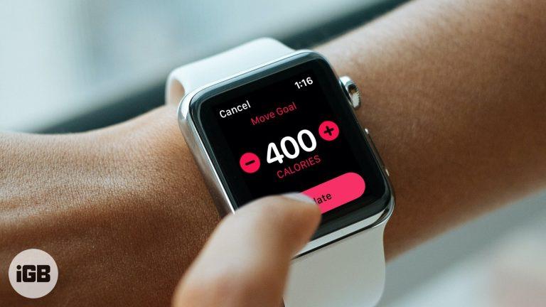 Как изменить целевое количество калорий на Apple Watch в watchOS 7