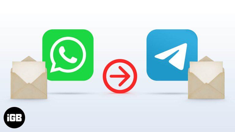 Как передавать сообщения WhatsApp в Telegram на iPhone