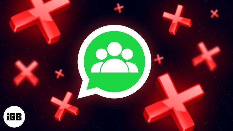 Как удалить группу WhatsApp на iPhone и компьютере