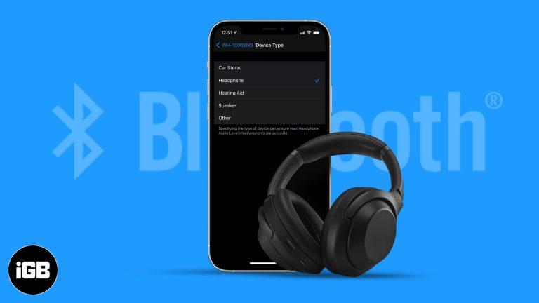 Как пометить устройства Bluetooth на iPhone и iPad в iOS 14