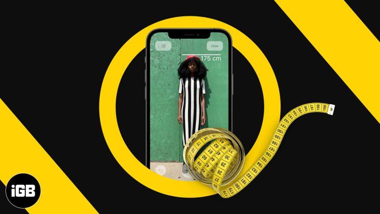 Как измерить свой рост с iPhone 12 Pro или 12 Pro Max
