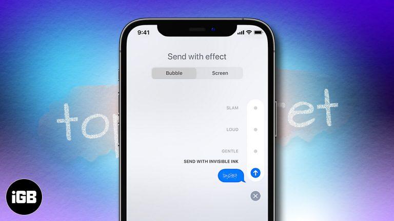 Как отправить невидимые чернила iMessage с iPhone и iPad