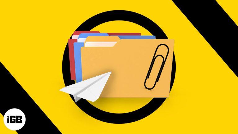 Как отправлять большие файлы по электронной почте с iPhone и iPad