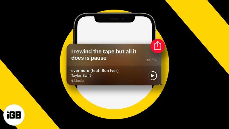 Как поделиться текстами песен Apple Music в Instagram и iMessage в iOS 14.5