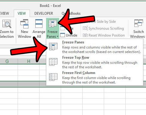 Как закрепить несколько строк в Excel 2013