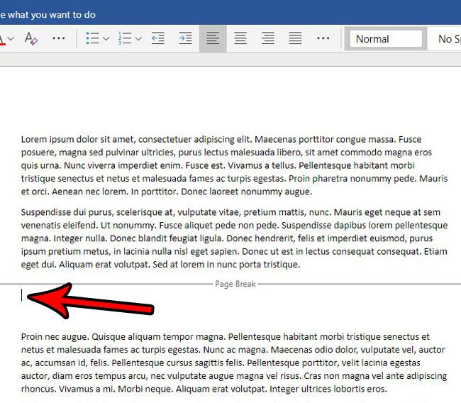 Как убрать разрыв страницы в Word Online