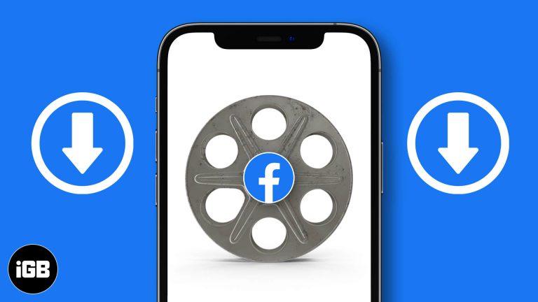 Как скачать видео из Facebook на iPhone, iPad и Mac
